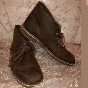 Clark's original size 10.5 brown lace up booties